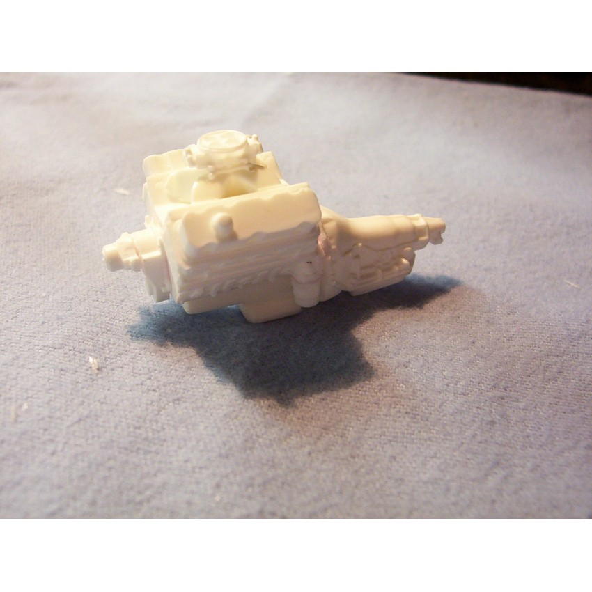 Resin Cast Chevy 502 Single Carb Engine Kit 1/24 1/25 Scale Model