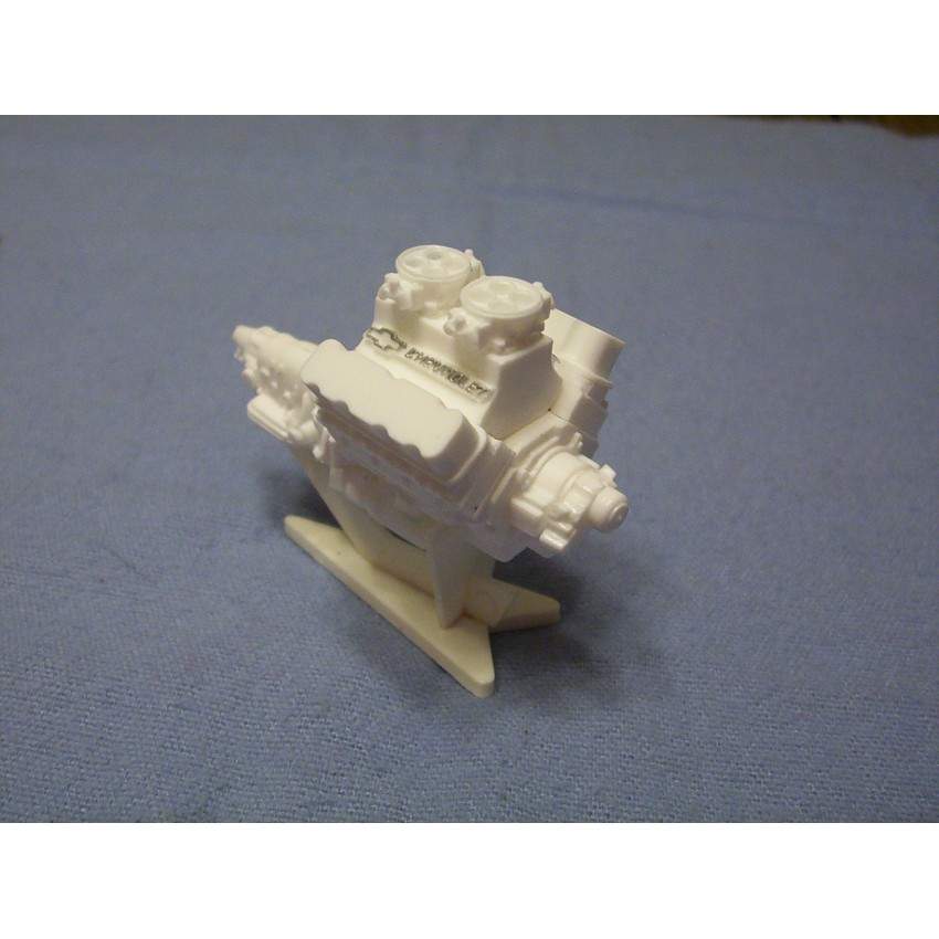 Resin Cast Chevy 502 Tunnel Ram Engine Kit 1/24 1/25 Scale