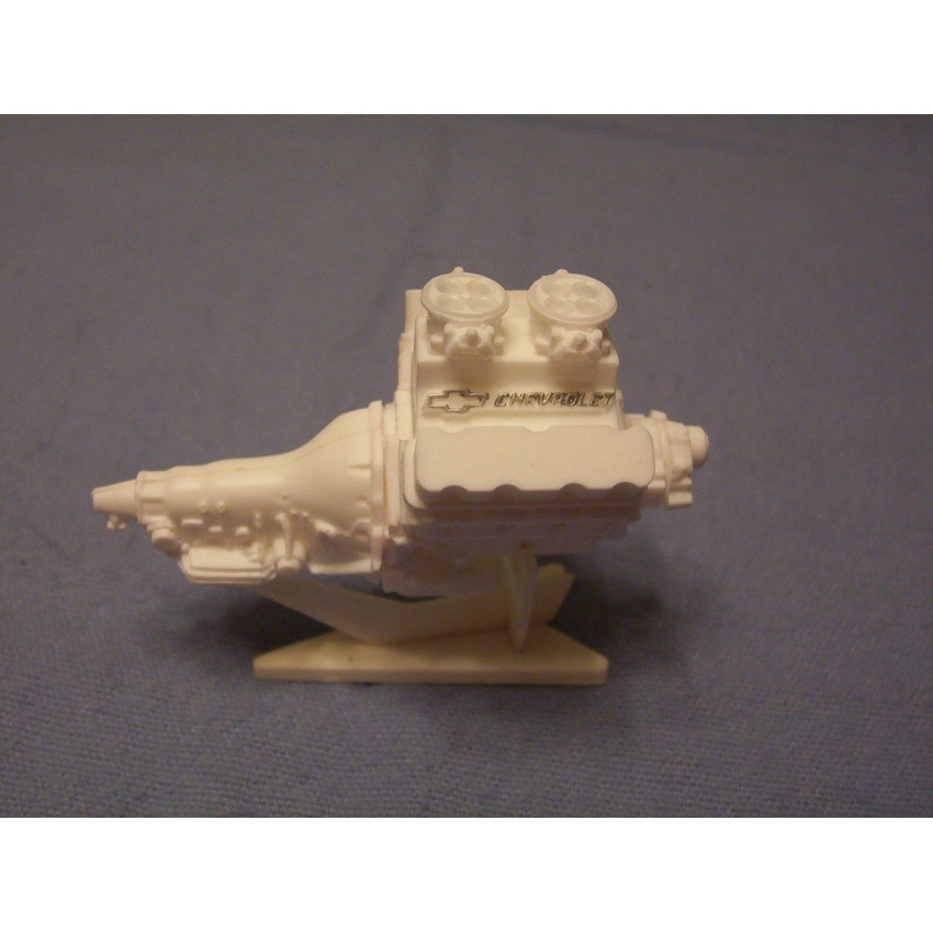 Resin Cast Chevy 502 Tunnel Ram Engine Kit 1/24 1/25 Scale Model