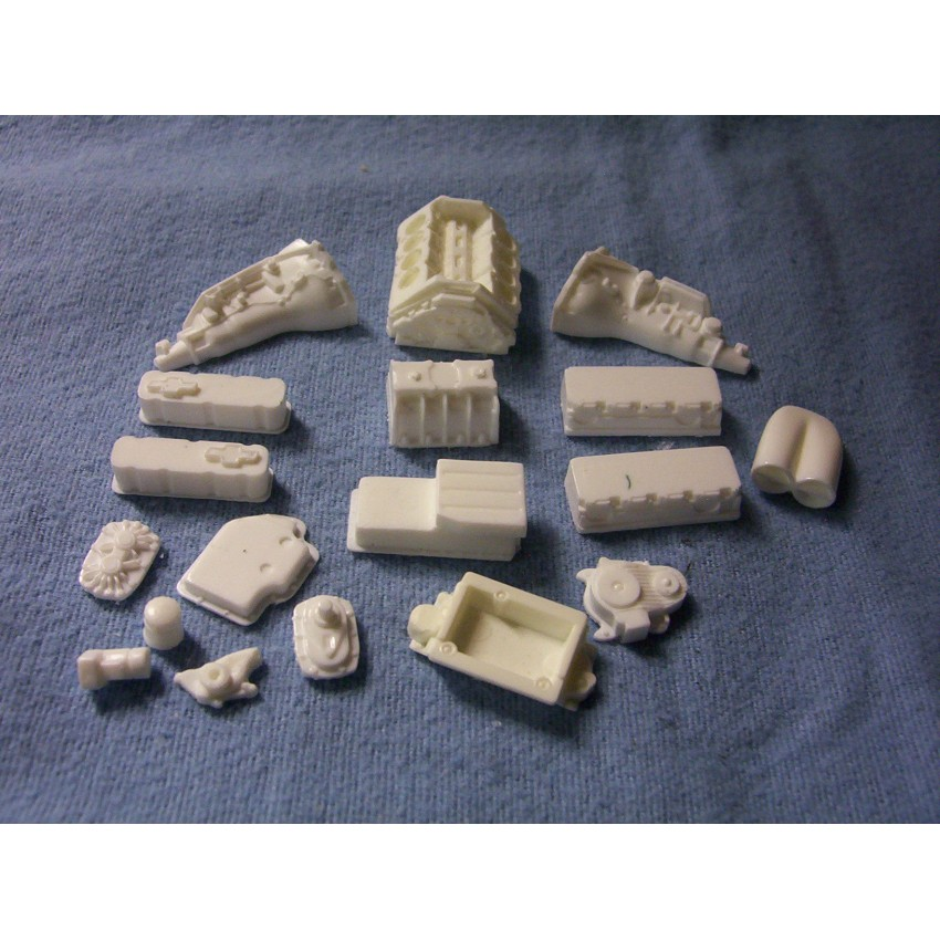 resin cast chevy 572 blown engine kit 1  24 1  25 scale model